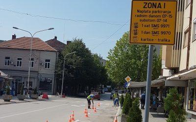 Obeležavanje parking mesta u Kosovskoj ulici
